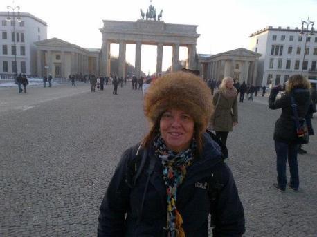 Christi, frío y al fondo Brandenburger Tor.
